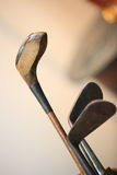 Wooden  golf clubs Stock Photo