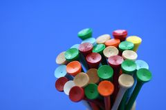 Wooden golf tees Stock Photos