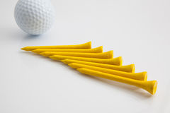 The wooden golf tees Royalty Free Stock Photo
