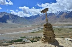 Wooden gompa Royalty Free Stock Image
