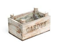 Wooden Graden Crate Stock Photo
