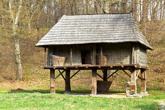 Romanian traditional granary Royalty Free Stock Images