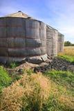 Wooden Grain Storage Bins Stock Photography