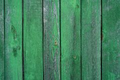 Wooden green background, stained with age and some paint peeling Stock Image