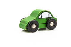 Wooden Green Car Toy Stock Photo