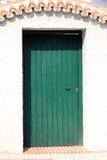Wooden green door Stock Photos