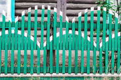 Wooden green fence Stock Photos