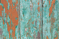 Wooden green painted fence Stock Photography