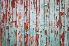 Wooden green painted fence as grunge background Royalty Free Stock Image