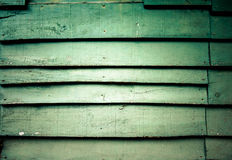 Wooden green wall Royalty Free Stock Images