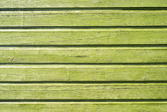 Wooden green wall Royalty Free Stock Image