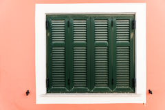 Wooden green window Royalty Free Stock Photo