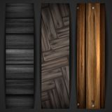Wooden grey banner. Stock Photography