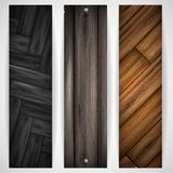 Wooden grey banner. Royalty Free Stock Image