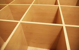 Wooden Grid Abstract 2 Stock Images