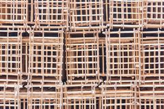 Wooden grid background royalty free stock photography