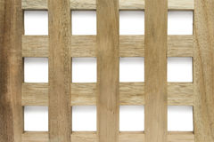 Wooden grid Stock Images