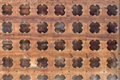 Wooden grille Stock Image