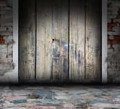 Wooden grunge interior Stock Photos