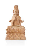 Wooden Guan Yin Statue Royalty Free Stock Photography
