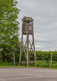 Wooden guard tower Stock Photo