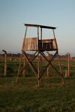 Wooden Guard Watch Tower, Auschwitz Stock Photography