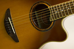 Wooden guitar Stock Images