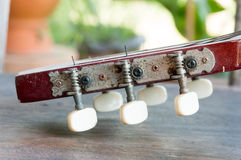 Wooden guitar Royalty Free Stock Photos