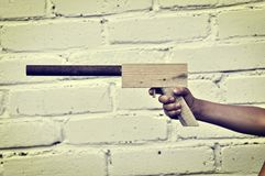 Wooden gun Stock Photos