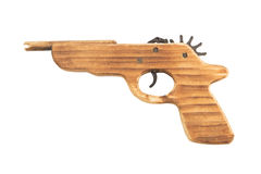 Wooden gun Stock Photo