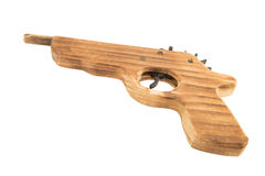 Wooden gun Royalty Free Stock Photo
