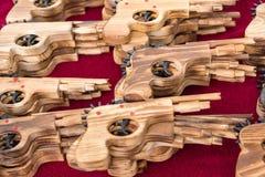 Wooden guns in the market.Thailand. Wooden guns in the market.Thailand Stock Photography