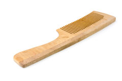 Wooden hairbrush. Some wooden hairbrush on a white background stock photo