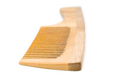 Wooden hairbrush. Some wooden hairbrush on a white background royalty free stock photography