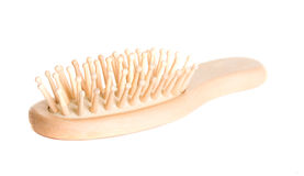 Wooden hairbrush Stock Photos