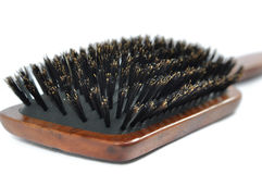 Wooden hairbrush Royalty Free Stock Image