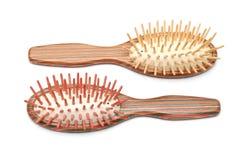 Wooden hairbrush Royalty Free Stock Photos