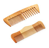 Wooden hairbrushes Stock Photography
