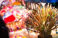 Wooden Hairpin For Sell At Jonker Walk Melaka Stock Images