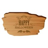 Wooden Halloween Sign Royalty Free Stock Image