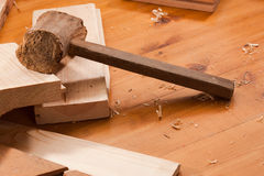 Wooden hammer Royalty Free Stock Images