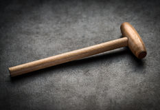 Wooden hammer. Royalty Free Stock Photos