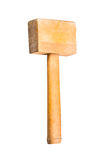 Wooden hammer, isolated Stock Photo