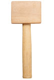 Wooden hammer isolated on white Stock Photo