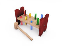 Wooden hammer toy Stock Image