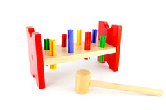 Wooden hammer toy Royalty Free Stock Images