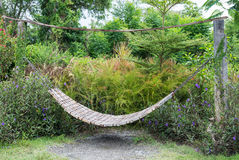 Wooden hammock Royalty Free Stock Photography