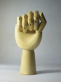 Wooden hand Royalty Free Stock Image