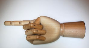 A wooden hand Royalty Free Stock Images