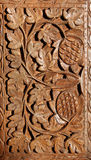 Wooden hand carved pattern Stock Image